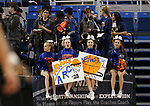 Bishop Gorman cheerleaders cheer on their team in the 4A NIAA state basketball championship game in Reno, Nev., on Friday, Feb. 23, 2018. Gorman defeated Bishop Manogue 62-41. Cathleen Allison/Las Vegas Review-Journal
