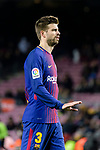 Gerard Pique Bernabeu of FC Barcelona gestures during the Copa Del Rey 2017-18 match between FC Barcelona and Valencia CF at Camp Nou Stadium on 01 February 2018 in Barcelona, Spain. Photo by Vicens Gimenez / Power Sport Images