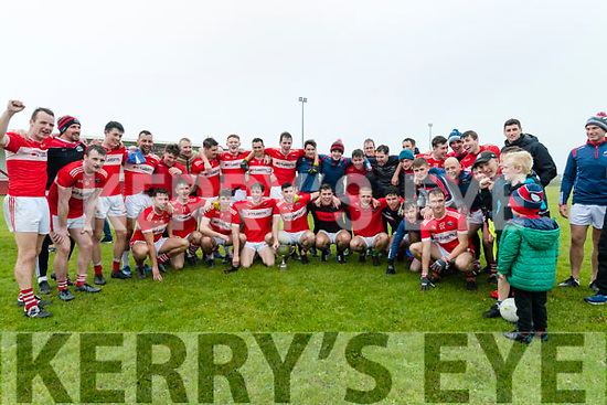 Daingean Uí Chúis team celebrating after defeating An Ghaeltacht during the West Kerry Senior Football Championship Final at Gallarus on Sunday afternoon.