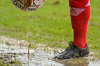 illustration picture raining during a female soccer game between Standard Femina de Liege and Eendracht Aalst on the 12 th matchday of the 2020 - 2021 season of Belgian Scooore Womens Super League , saturday 30 th of January 2021 in Angleur , Belgium . PHOTO SPORTPIX.BE   SPP   STIJN AUDOOREN