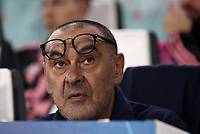 Football Soccer: UEFA Champions League -Group Stage-  Group D - Juventus vs Lokomotiv Moskva, Allianz Stadium. Turin, Italy, October 22, 2019.<br /> Juventus' coach Maurizio Sarri prior yo the Uefa Champions League football soccer match between Juventus and Lokomotiv Moskva at Allianz Stadium in Turin, on October 22, 2019.<br /> UPDATE IMAGES PRESS