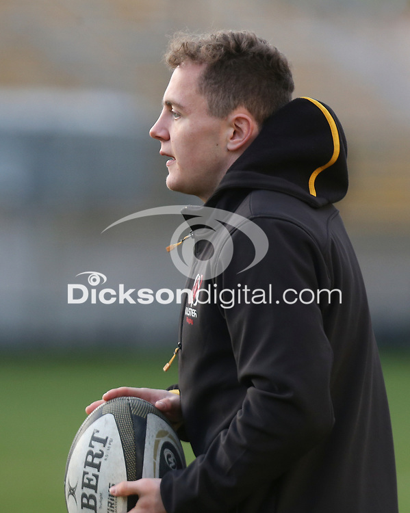 Thursday 18th February 2021 | Ulster Rugby Captain's Run<br /> <br /> Michael Lowry during the Ulster Rugby Captain's Run held at Kingspan Stadium, Ravenhill Park, Belfast, Northern Ireland, ahead of the Glasgow PRO14clash on Friday night. Photo by John Dickson / Dicksondigital