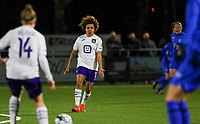 Kassandra Missipo (12) of Anderlecht pictured during a female soccer game between  Racing Genk Ladies and RSC Anderlecht on the 16 th matchday of the 2020 - 2021 season of Belgian Scooore Womens Super League , friday 12 th of March 2021  in Genk , Belgium . PHOTO SPORTPIX.BE   SPP   SEVIL OKTEM