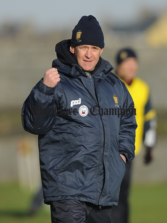 Clare manager Colm Collins on the sideline during their Round 2 Division 4 national Football League game against Leitrim at Miltown Malbay. Photograph by John Kelly.