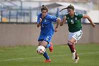20190227 - LARNACA , CYPRUS : Italian midfielder Valentina Bergamaschi (left) and Mexican defender Jimena Lopez (right) pictured during a women's soccer game between Mexico and Italy , on Wednesday 27 February 2019 at the Antonis Papadopoulos Stadium in Larnaca , Cyprus . This is the first game in group B for both teams during the Cyprus Womens Cup 2019 , a prestigious women soccer tournament as a preparation on the FIFA Women's World Cup 2019 in France and the Uefa Women's Euro 2021 qualification duels. PHOTO SPORTPIX.BE | STIJN AUDOOREN