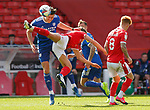 19.09.20 - Nottingham Forest v Cardiff - Sky Bet Championship - Kieffer Moore of Cardiff collides with Yuri Ribeiro of Nottingham Forest?
