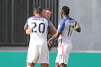 St. Vincent and the Grenadines - September 2, 2016: The U.S. Men's National team take a 3-0 lead over St. Vincent and the Grenadines with Matt Besler, Bobby Wood and Jozy Altidore contributing goals in a World Cup Qualifier (WCQ) match at Arnos Vale Stadium.