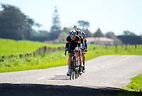 Auckland Grammar senior C u20 boys in action during the NZ Schools Road Cycling championship day one team time trials at Koputaroa Road near Levin, New Zealand on Saturday, 30 September 2017. Photo: Dave Lintott / lintottphoto.co.nz