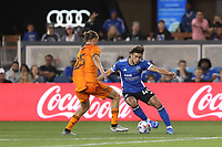 SAN JOSE, CALIFORNIA - JULY 24: Cade Cowell #44 of the San Jose Earthquakes during a game between Houston Dynamo and San Jose Earthquakes at PayPal Park on July 24, 2021 in San Jose, California.