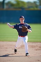 Tyler Elliott (6) of Jeannette Sr High in Greensburg, Pennsylvania during the Baseball Factory All-America Pre-Season Tournament, powered by Under Armour, on January 13, 2018 at Sloan Park Complex in Mesa, Arizona.  (Mike Janes/Four Seam Images)