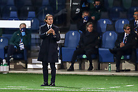 Italy's head coach Roberto Mancini follows the game during the UEFA Nations League football match between Italy and Netherlands at Bergamo's Atleti Azzurri d'Italia stadium, October 14, 2020.<br /> UPDATE IMAGES PRESS/Isabella Bonotto