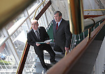 Gerry McGinn, Chief Executive (left) and John McGloughlin, Chief Financial Officer of Irish Nationwide Building Society, pictured here at the companies publication of Results ended 31st December 2009 at their headquarters in Dublin. Pic. Robbie Reynolds/CPR