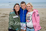 Enjoying a stroll in Banna on Saturday, l to r: Aisling Walsh, Adam and Sarah Crowley