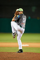 Daytona Tortugas relief pitcher Alex Webb (31) delivers a pitch during a game against the Jupiter Hammerheads on April 13, 2018 at Jackie Robinson Ballpark in Daytona Beach, Florida.  Daytona defeated Jupiter 9-3.  (Mike Janes/Four Seam Images)