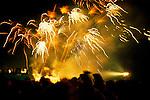 Silver Jubilee celebrations, London 1977.Uk Fire works Hyde Park London