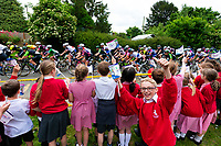 Picture by Alex Whitehead/SWpix.com - 15/06/2018 - Cycling - 2018 OVO Energy Women's Tour - Stage 3, Atherstone to Royal Leamington Spa - school children, fans.