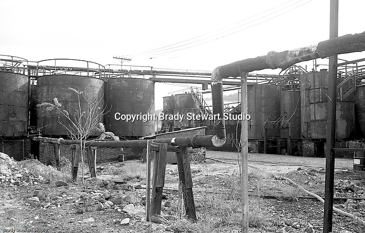 Lawrenceville PA: Location photography at the Atlantic Refining site at 5733 Butler Street. View of storage tanks piping on the property.<br /> This track of land has been involved in oil-related refining for over 100 years.  ARCO sold the property to SUNOCO which still operates a storage facility at 5733 Butler Street.