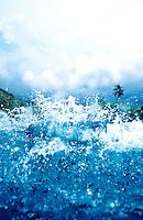 Wave crashing on shore