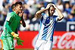 CD Leganes' David Timor (r) dejected in presence of Valencia CF's Diego Alves during La Liga match. September 25,2016. (ALTERPHOTOS/Acero)