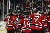 Siegesjubel New Jersey Devils<br /> New Jersey Devils vs. Florida Panthers<br /> *** Local Caption *** Foto ist honorarpflichtig! zzgl. gesetzl. MwSt. Auf Anfrage in hoeherer Qualitaet/Aufloesung. Belegexemplar an: Marc Schueler, Am Ziegelfalltor 4, 64625 Bensheim, Tel. +49 (0) 6251 86 96 134, www.gameday-mediaservices.de. Email: marc.schueler@gameday-mediaservices.de, Bankverbindung: Volksbank Bergstrasse, Kto.: 151297, BLZ: 50960101