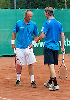 2013-08-17, Netherlands, Raalte,  TV Ramele, Tennis, NRTK 2013, National Ranking Tennis Champ,  Bart de Gier (L) and David de Goede<br />