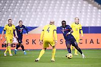 17th November 2020; Stade de France, Paris,  France; UEFA National League international football, France versus Sweden;  MOUSSA SISSOKO (FRA) takes on Danielson of Sweden