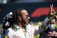July 3rd 2021; F1 Grand Prix of Austria, qualifying sessions;    Lewis Hamilton Mercedes AMG Petronas F1 Team arrives on track as he extends his contract with Mercedes for two more years until 2023