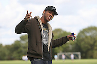 A Sunday footballer is seen pitchside at Hackney Marshes - 04/10/09 - MANDATORY CREDIT: Gavin Ellis/TGSPHOTO - Self billing applies where appropriate - Tel: 0845 094 6026