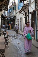 Stone Town, Zanzibar, Tanzania.  Street Scene.
