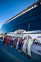 22-25 January, 2009, Daytona Beach, Florida USA.Champions from NASCAR, IndyCar, Grand Am and other racing series meet in Victory Lane in front of the 500 Club for a photograph..©F.Peirce Williams 2009.F.Peirce Williams.photography