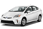 Front three quarter view of a 2012 Toyota Prius .