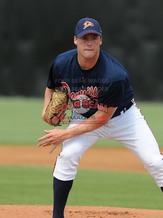 July 15, 2009: LHP Derick Himpsl (47) of the Danville Braves, rookie Appalachian League affiliate of the Atlanta Braves, before a game at Dan Daniel Memorial Park in Danville, Va. Photo by:  Tom Priddy/Four Seam Images