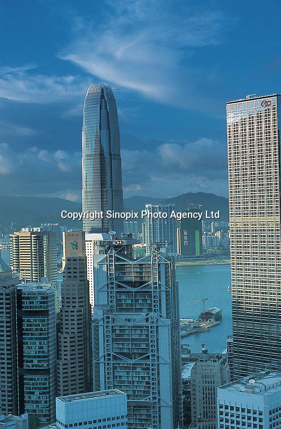 Overlooking the skylines on Hong Kong Island..