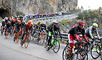 Action from the rain soaked 106th edition of the Milan-San Remo 2015 cycle race, Milan, Italy. 22nd March 2015. <br /> Photo: ANSA/Claudio Peri/www.newsfile.ie