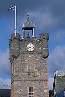Europe/Grande-Bretagne/Ecosse/Moray/Speyside/Dufftown : Le Beffroi et son horloge musicale
