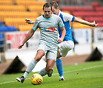 St Johnstone v Hartlepool…22.07.17… McDiarmid Park… Pre-Season Friendly<br />Blair Adams is fouled by Steven MacLean<br />Picture by Graeme Hart.<br />Copyright Perthshire Picture Agency<br />Tel: 01738 623350  Mobile: 07990 594431