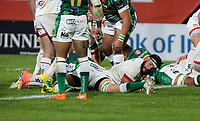 Friday 2nd October 2020 | Ulster Rugby vs Benetton Rugby<br /> <br /> Marcell Coetzee scores Ulster's bonus point try during the PRO14 Round 1 clash between Ulster Rugby and Benetton Rugby at Kingspan Stadium, Ravenhill Park, Belfast, Northern Ireland. Photo by John Dickson / Dicksondigital