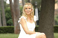 "NATASHA RICHARDSON.Photocall for ""Asylum"", Rome, Italy..June 6th, 2007.half length white dress sitting .CAP/CAV.©Luca Cavallari/Capital Pictures"
