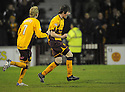 11/02/2008    Copyright Pic: James Stewart.File Name : sct_jspa15_motherwell_v_dundee.DARREN SMITH CELEBRATES SCORING MOTHERWELL'S GOAL.James Stewart Photo Agency 19 Carronlea Drive, Falkirk. FK2 8DN      Vat Reg No. 607 6932 25.Studio      : +44 (0)1324 611191 .Mobile      : +44 (0)7721 416997.E-mail  :  jim@jspa.co.uk.If you require further information then contact Jim Stewart on any of the numbers above........