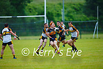 Shane O'Callaghan Austin Stacks gets to the ball ahead of Brendan Falvey Dr Crokes during their Div1 County League game in Lewis Road on Saturday