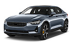 2020 Polestar Polestar-2 Pilot-Plus 5 Door Hatchback Angular Front automotive stock photos of front three quarter view