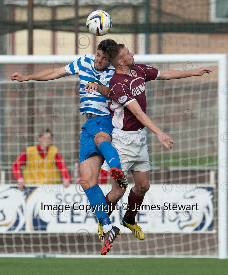 Morton's Thomas O'Ware and Stenny's Colin McMenamin.