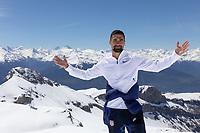 CRANS-MONTANA, SWITZERLAND - MAY 28: Sebastian Lletget of the United States at Pointe de la Plaine Morte on May 28, 2021 in Crans-Montana, Switzerland.