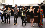Joseph Siravo, Leslie Kritzer, Zak Resnick, Linda Hart, Teal Wicks and D'Adre Aziza performing at  the press rehearsal for 'Piece of my Heart: The Bert Berns Story'  Meet & Greet at the rehearsal studios at The Pershing Square Signature Center on June 11, 2014 in New York City.