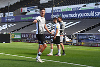 Kristoffer Peterson of Swansea City at full time during the pre season friendly match between Swansea City and Forest Green Rovers at the Liberty Stadium in Swansea, Wales, UK. Tuesday 01 September 2020