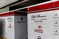 13th March 2020; Melbourne Grand Prix Circuit, Melbourne, Victoria, Australia; Formula One, Australian Grand Prix, Practice Day; Alfa Romeo garage