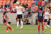 Houston, TX - Sunday Oct. 09, 2016: Diana Matheson, Abby Erceg during the National Women's Soccer League (NWSL) Championship match between the Washington Spirit and the Western New York Flash at BBVA Compass Stadium. The Western New York Flash win 3-2 on penalty kicks after playing to a 2-2 tie.