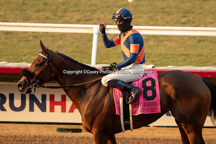 DEL MAR, CA  SEP 5: #8 Raymundos Secret, ridden by Flavien Prat, return to the connections after winning the John C. Mabee Staakes (Grade ll) at Del Mar Thoroughbred Club on September 5, 2020 in Del Mar, CA.(Photo by Casey Phillips/Eclipse Sportswire/CSM.