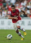 Andre Santos of Arsenal FC in action during the pre-season Asian Tour friendly match against Kitchee FC at the Hong Kong Stadium on July 29, 2012. Photo by Victor Fraile / The Power of Sport Images