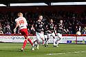 Mark Roberts of Stevenage shoots at goal. Stevenage v MK Dons - npower League 1 -  Lamex Stadium, Stevenage - 27th April, 2013. © Kevin Coleman 2013. ..